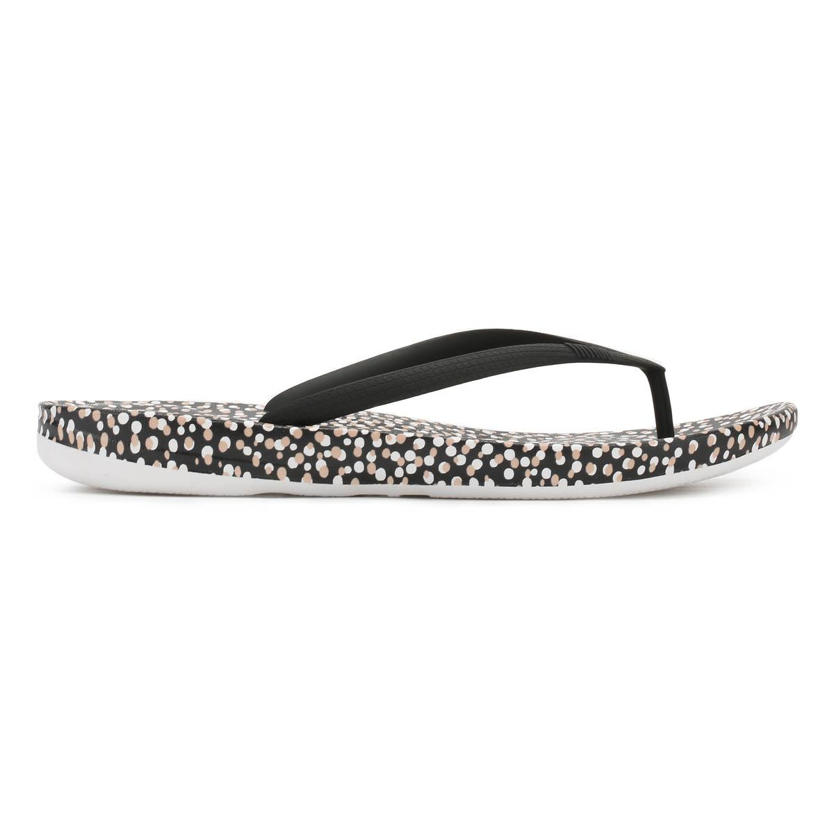 fafd3a730c327 Lyst - Fitflop Womens Black Bubbles Iqushion Ergonomic Flip Flops in ...