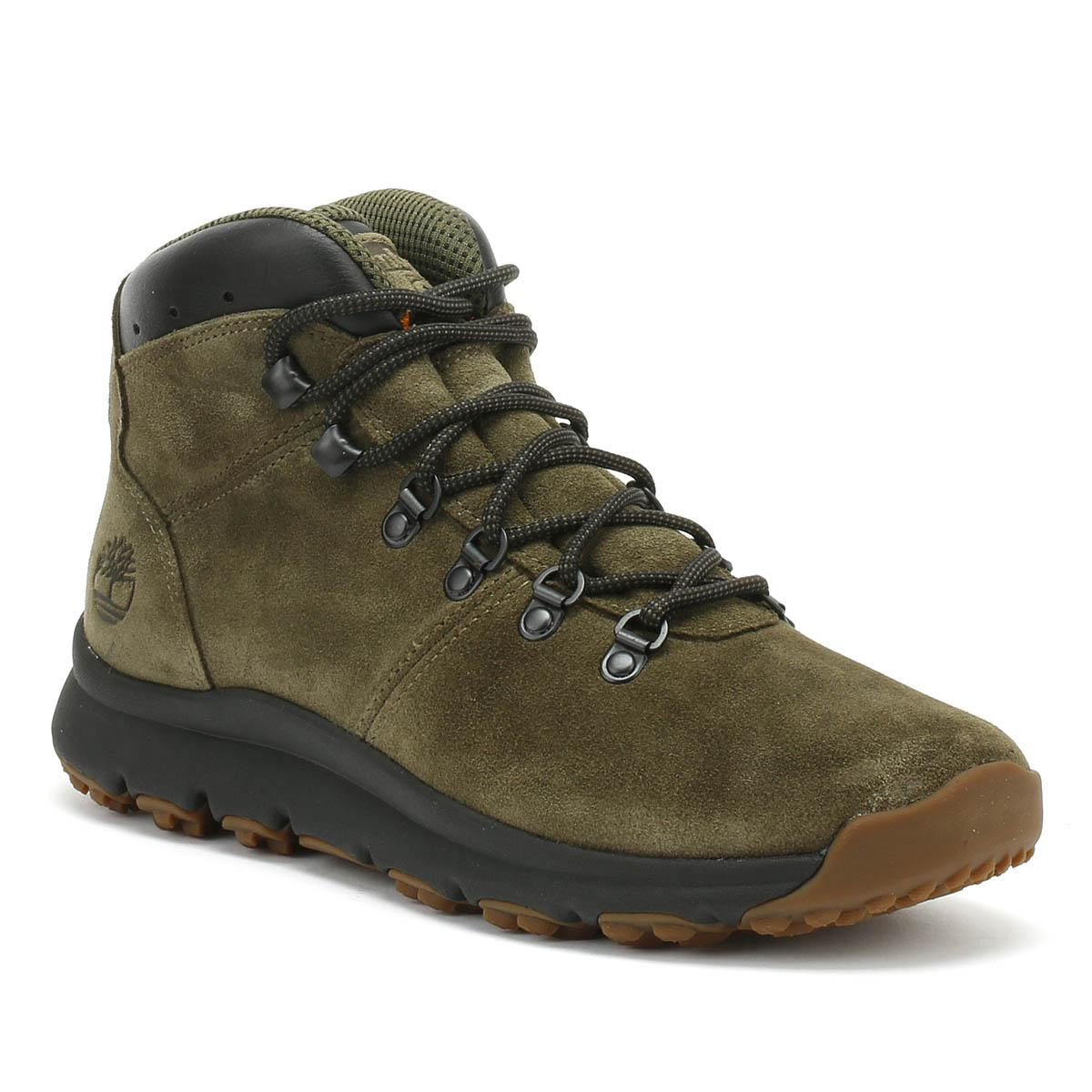 a6cfc52604fd Timberland World Hiker Mid Ankle Boot in Green for Men - Lyst