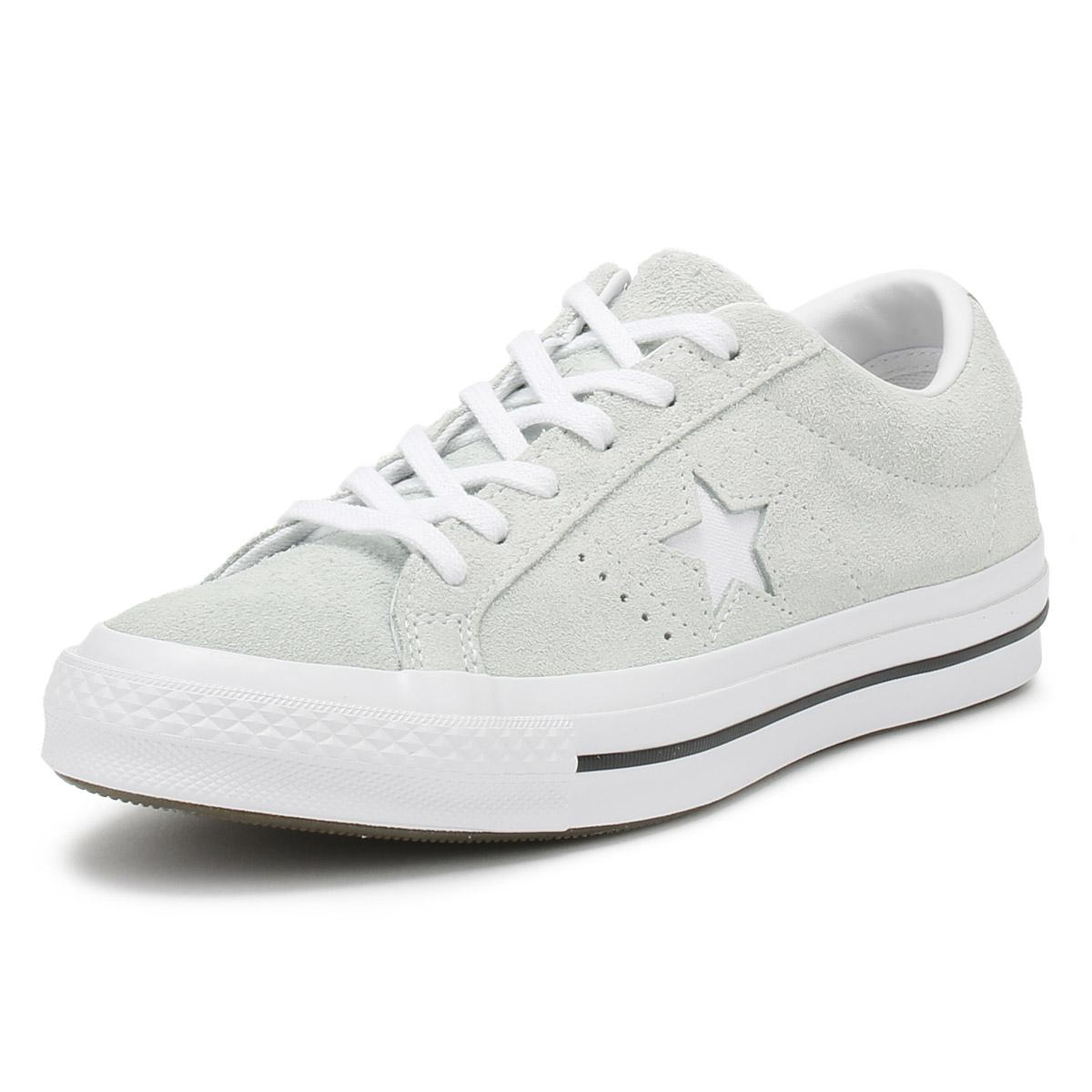 Lyst - Converse One Star Mens Dried Bamboo Green Suede Ox Trainers ... 695830d40