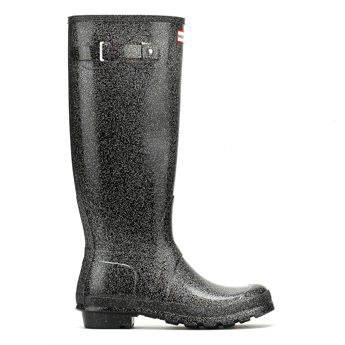HUNTER Rubber Original Womens Black Multi Tall Starcloud Boots Women's Wellington Boots In Black