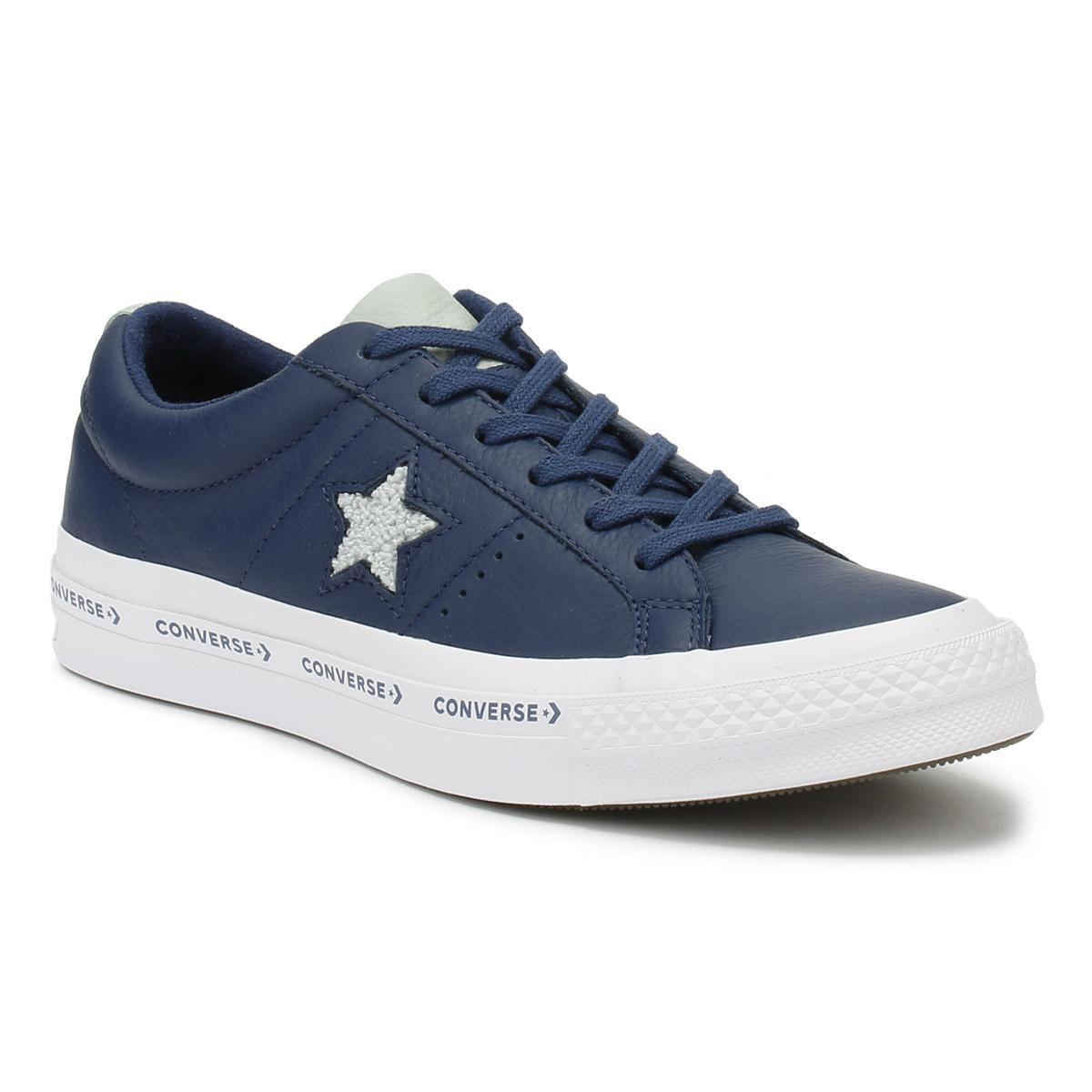 2879306ff8df Converse 159722c One Star Ox Navy-dried Bamboo-white Trainers in ...