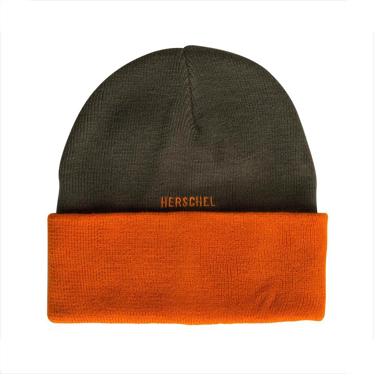 Lyst - Herschel Supply Co. Rosewell Ivy Green   Orange Beanie in ... 2609e02b5217
