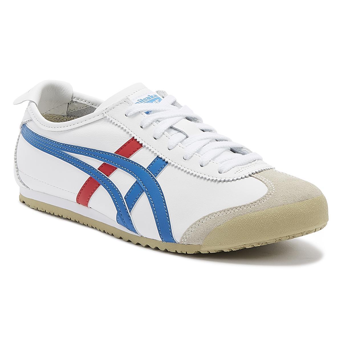 low priced 08b03 de8fe Mexico 66 Mens White / Blue Sneakers