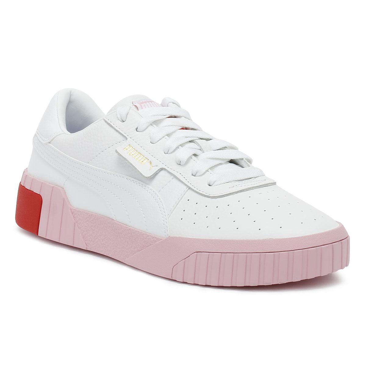 ... detailing Lyst - Puma Cali Womens White Pale Pink Trainers in White  2d8b2 e43f4 ... 4a39944f0