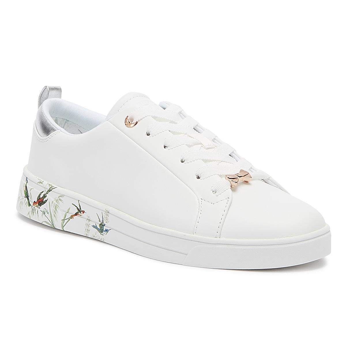 06140b176 Lyst - Ted Baker Roully Womens White Fortune Leather Trainers in ...