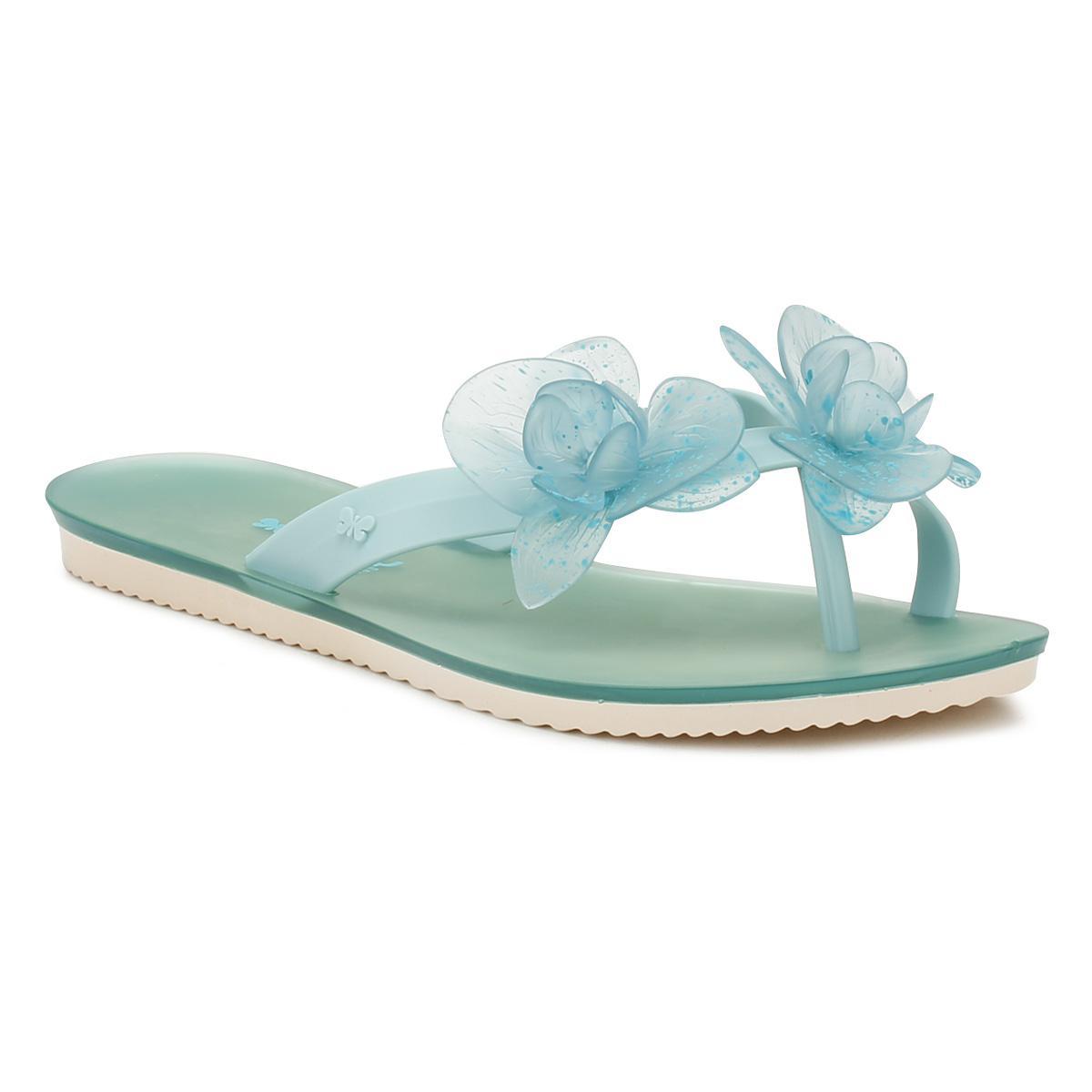 e864798c1de4 Zaxy - Blue Womens Aqua Ice Flower Flip Flops - Lyst. View fullscreen