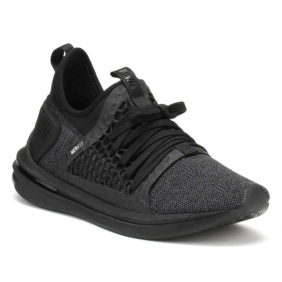 ad0231c2bb82 Lyst - PUMA Mens Black Ignite Limitless Sr Netfit Trainers in Black ...