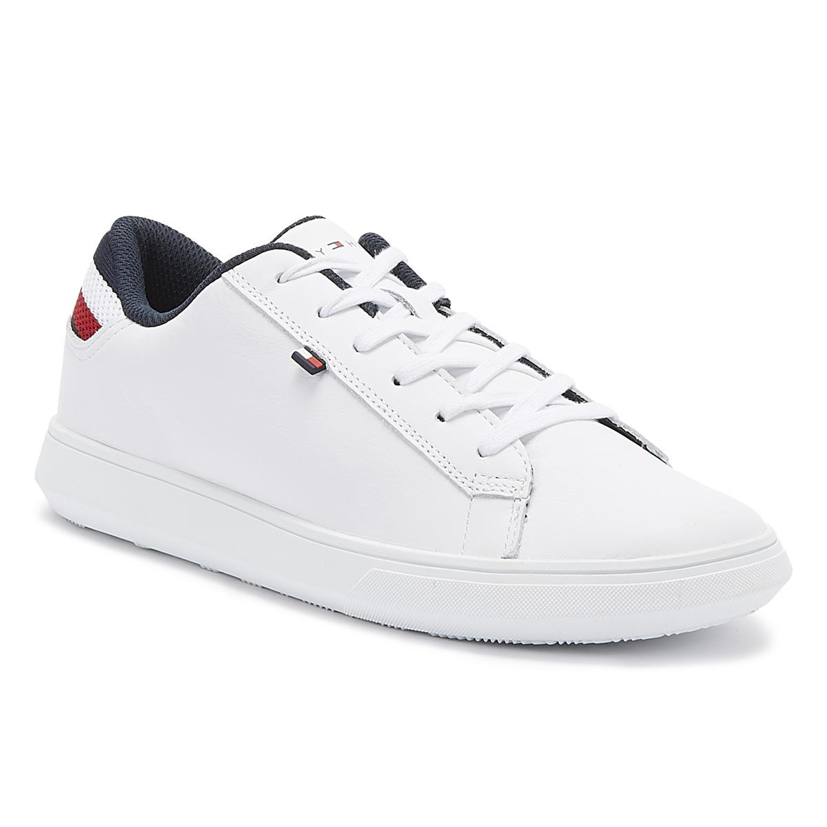 usa cheap sale skate shoes undefeated x Tommy Hilfiger Essential Mens White Leather Trainers for Men ...