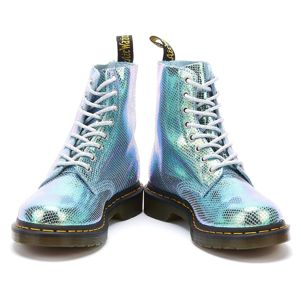 various colors skate shoes authorized site 1460 Iridescent Pascal 8-eye Boots