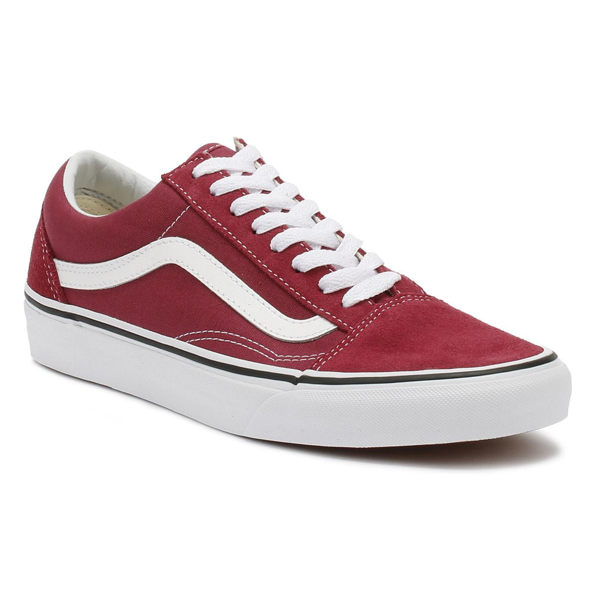 Lyst - Vans Dry Rose Red   True White Old Skool Trainers in Red 16d76d98c