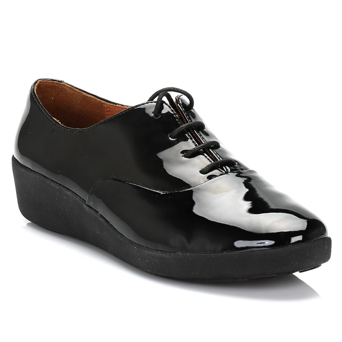 3b271d5cd8ba10 Fitflop Ff2 By Tm Womens Black F-pop Patent Leather Oxford Shoes in ...