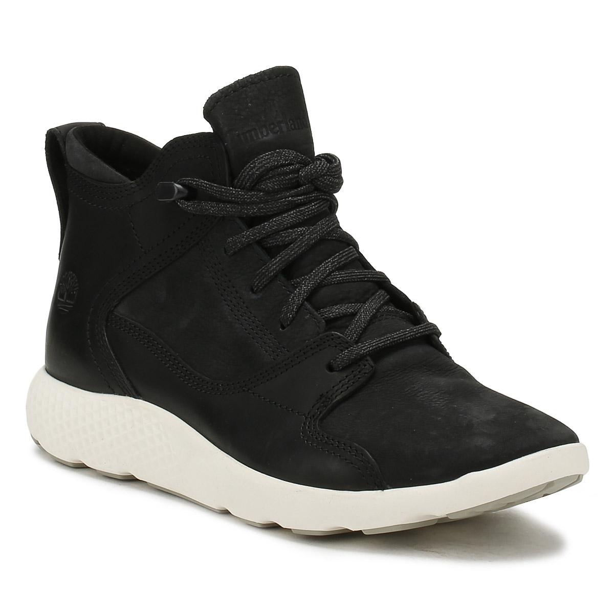 7b415bd394a Timberland Mens Black Flyroam Hiker Boot Men's Mid Boots In Black in ...