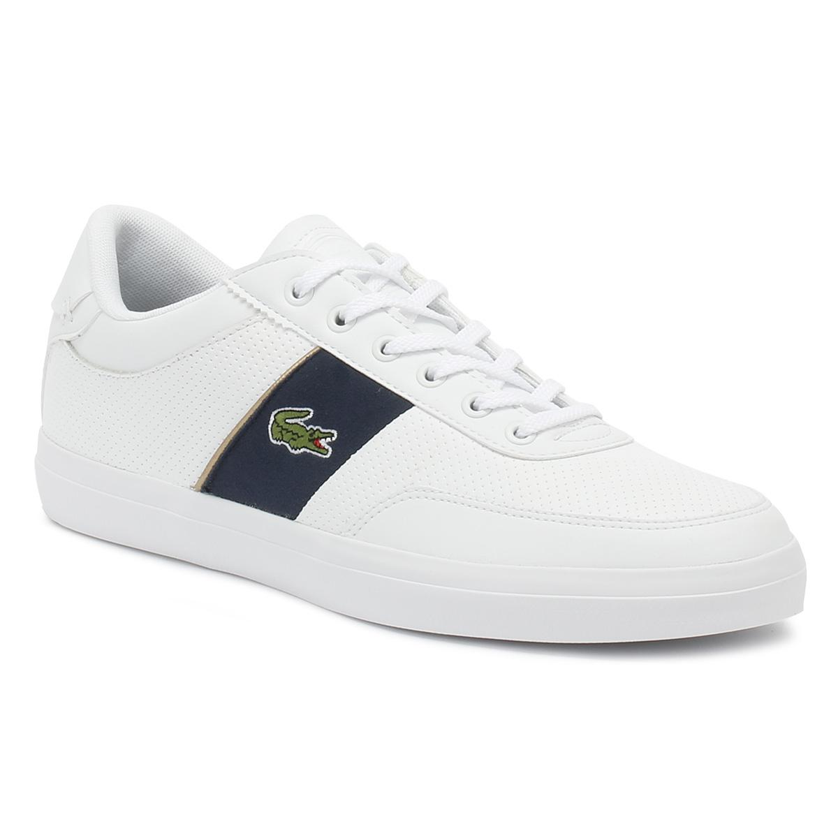 8057fa82df2d14 Lyst - Lacoste Mens White   Navy Court Master 318 1 Trainers in ...