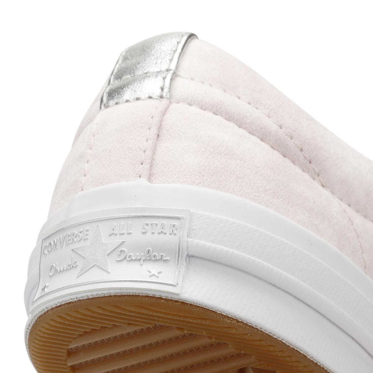 White One Star Womens Barely Rose Canvas Ox Sneakers