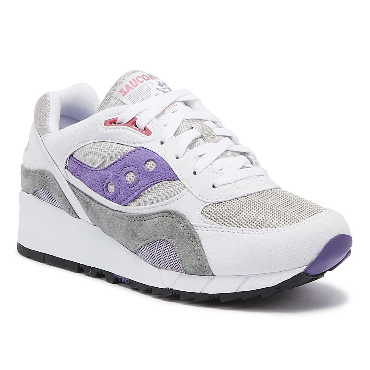the best attitude f3a26 b97f2 Men's Shadow 6000 White / Gray / Purple Sneakers