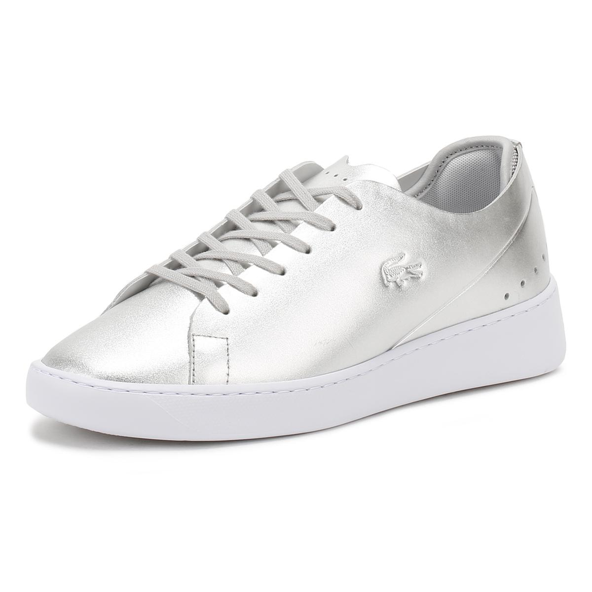 Lacoste Leather Eyyla Sneaker in Silver
