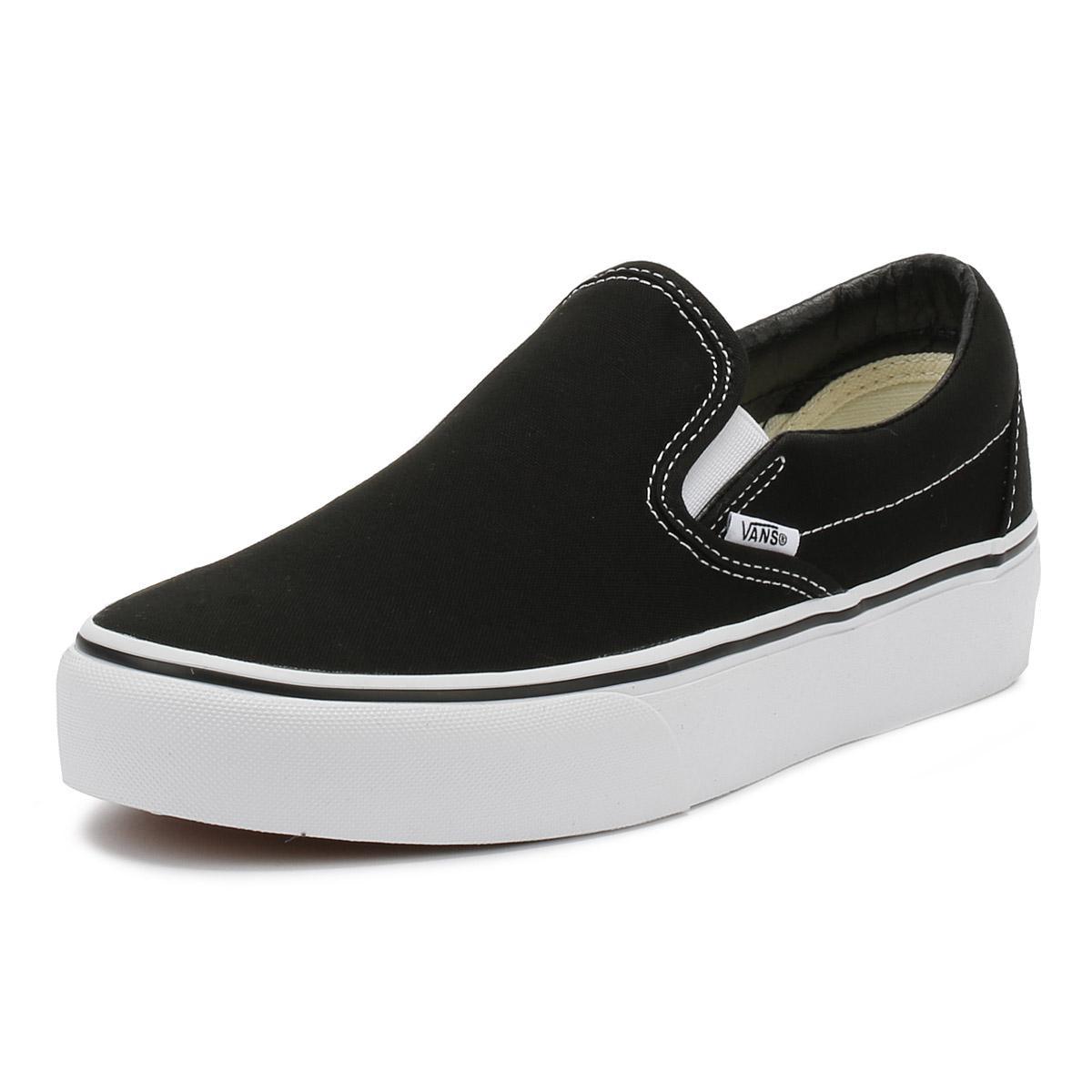 fe7f5037b28318 Vans - Womens Black Classic Slip On Platform Trainers for Men - Lyst. View  fullscreen