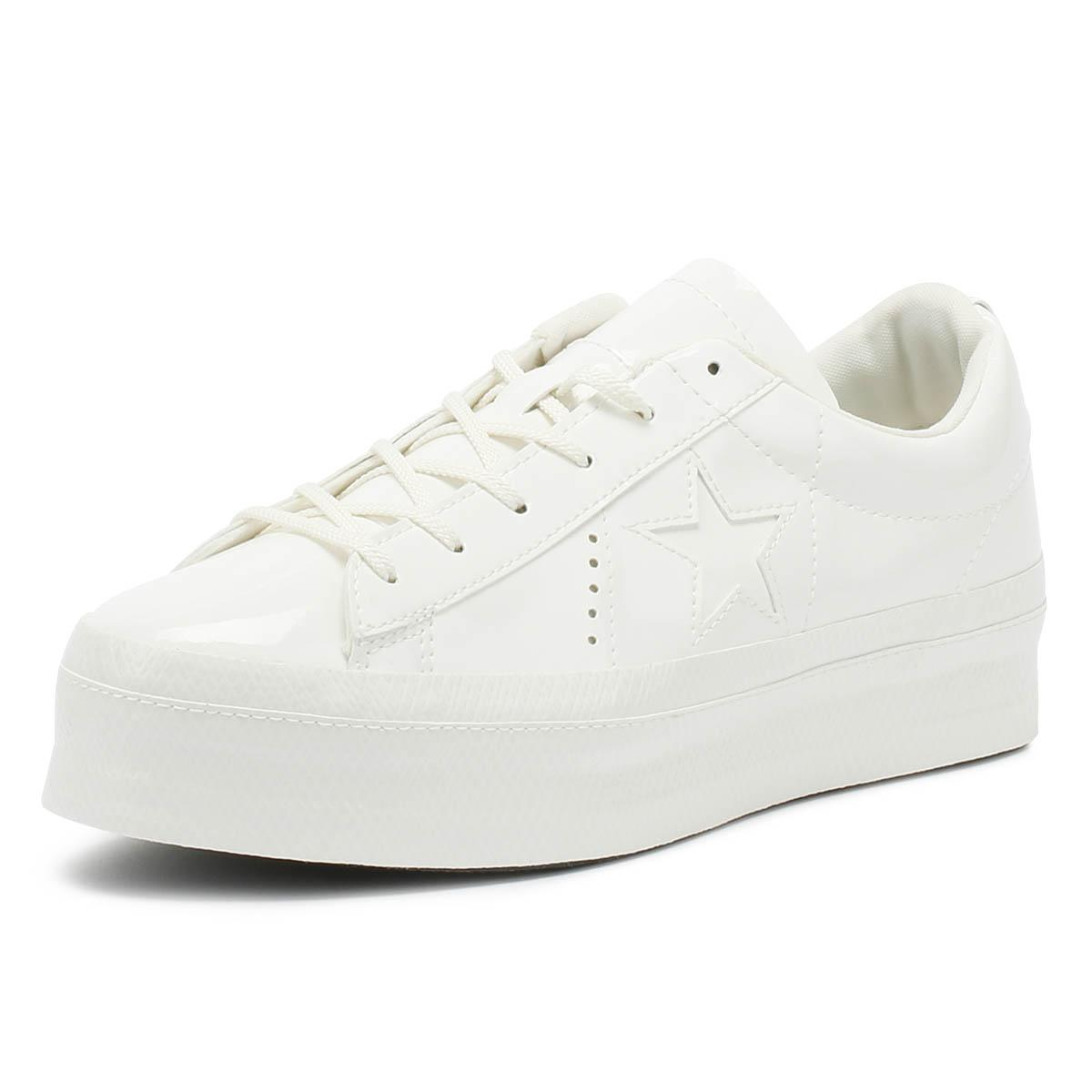 036dc9f8ad98 Converse - One Star Womens Vintage White Platform Ox Trainers - Lyst. View  fullscreen