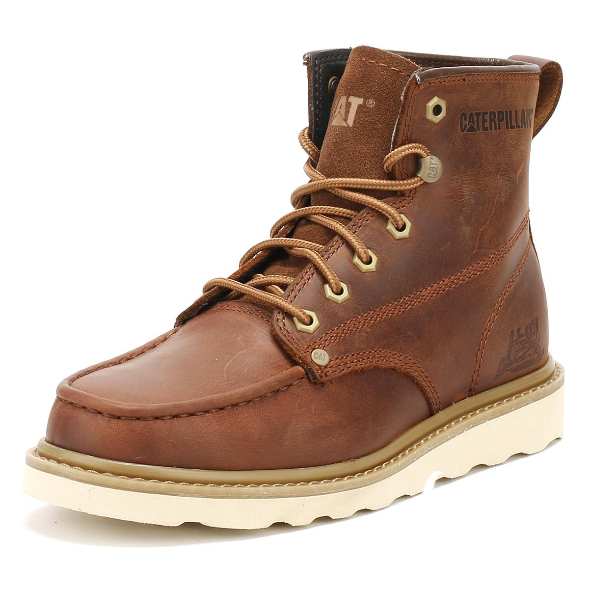 Caterpillar Leather Mens Brown Dogwood Glenrock Boots for