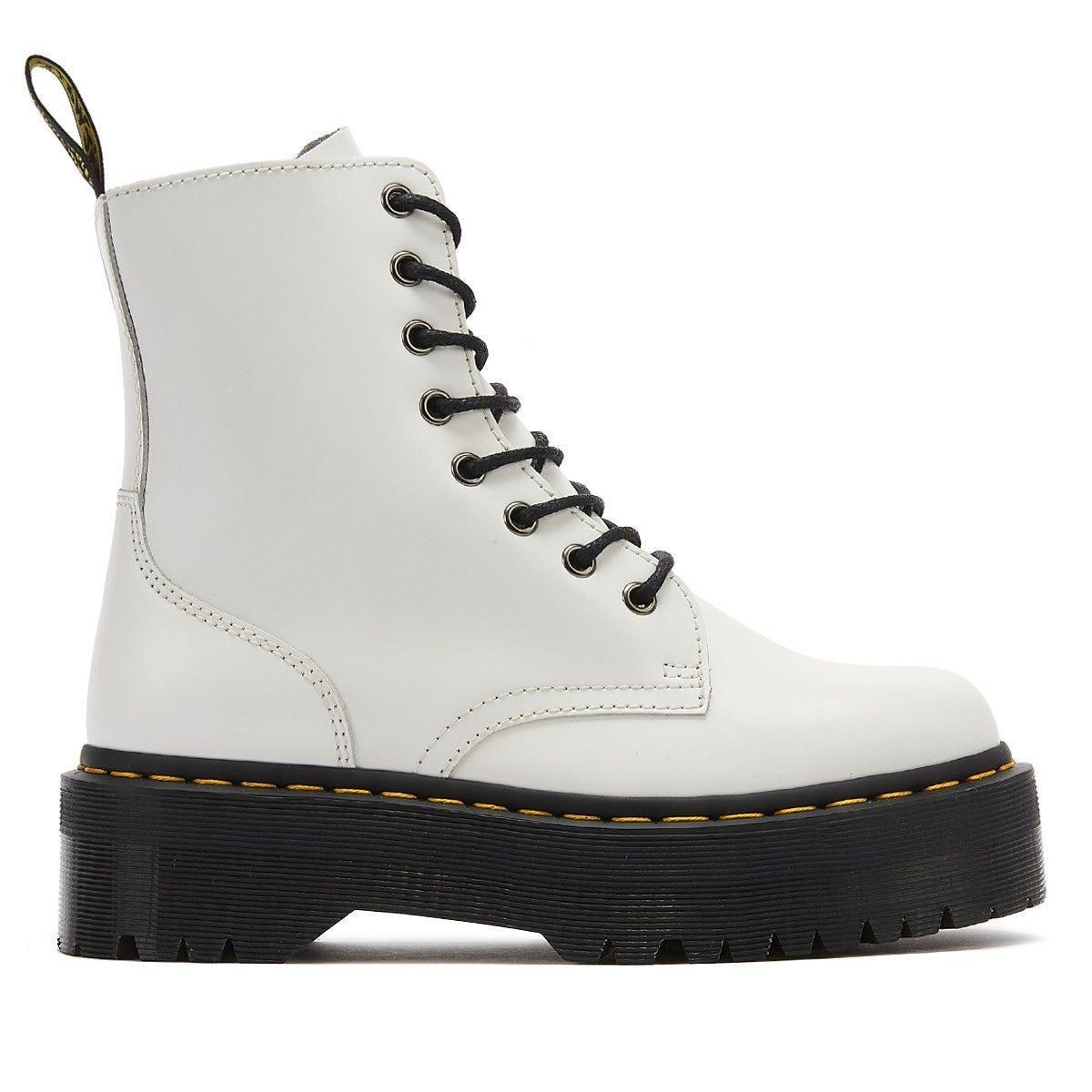 dr martens white platform boots
