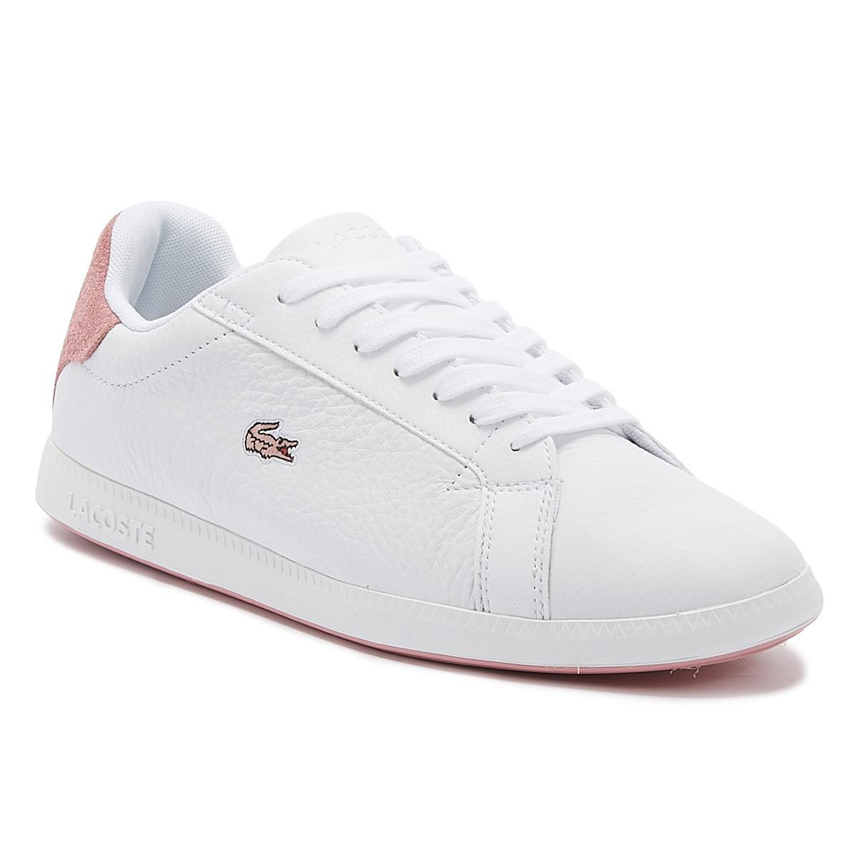 Lacoste Graduate 319 White Pink Womens Leather Trainers