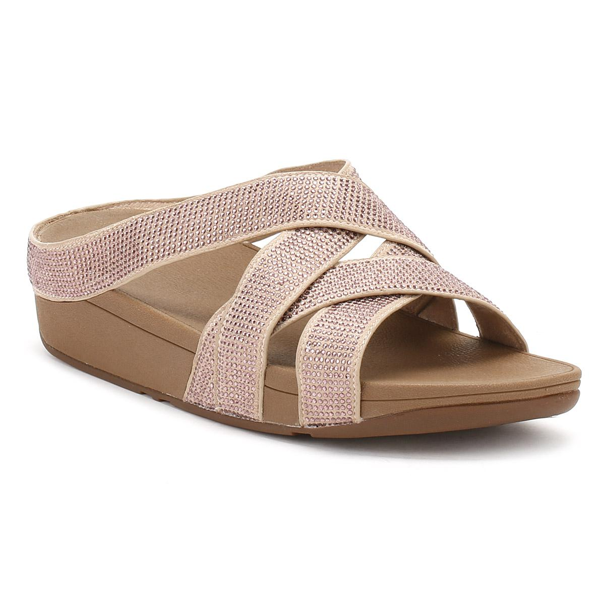 d29e980b6 Lyst - Fitflop Womens Nude Slinky Rokkit Criss-cross Sandals