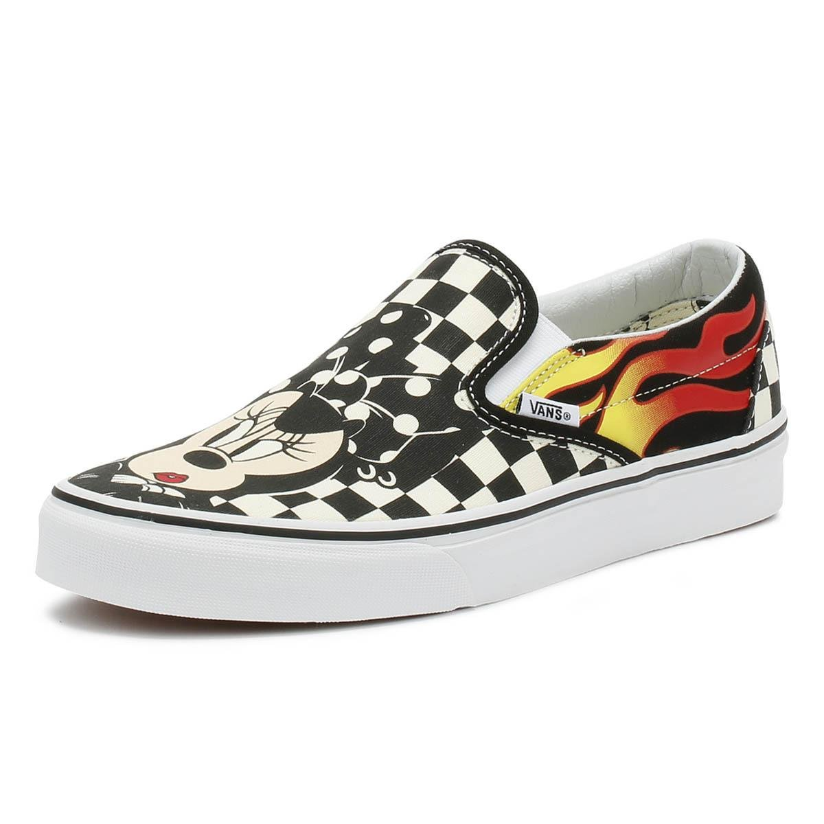 Vans Disney Mickey   Minnie Checker Flame Slip On Trainers - Lyst d066585759678
