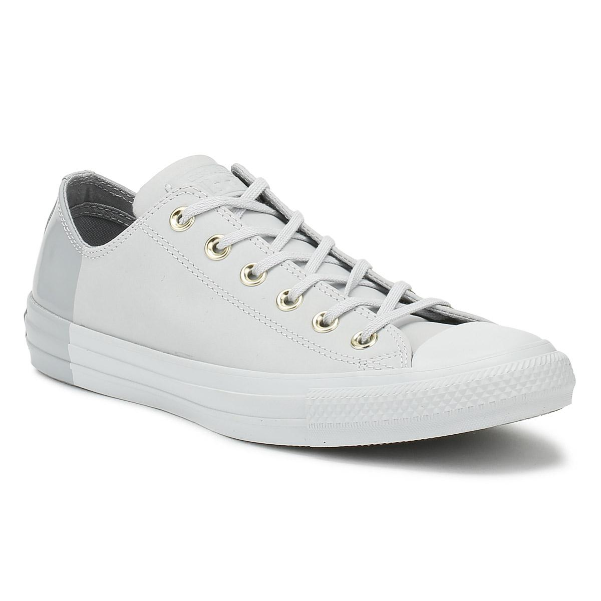 9b58e43d2aeed2 Converse Chuck Taylor All Star Womens Pure Platinum Ox Trainers in ...