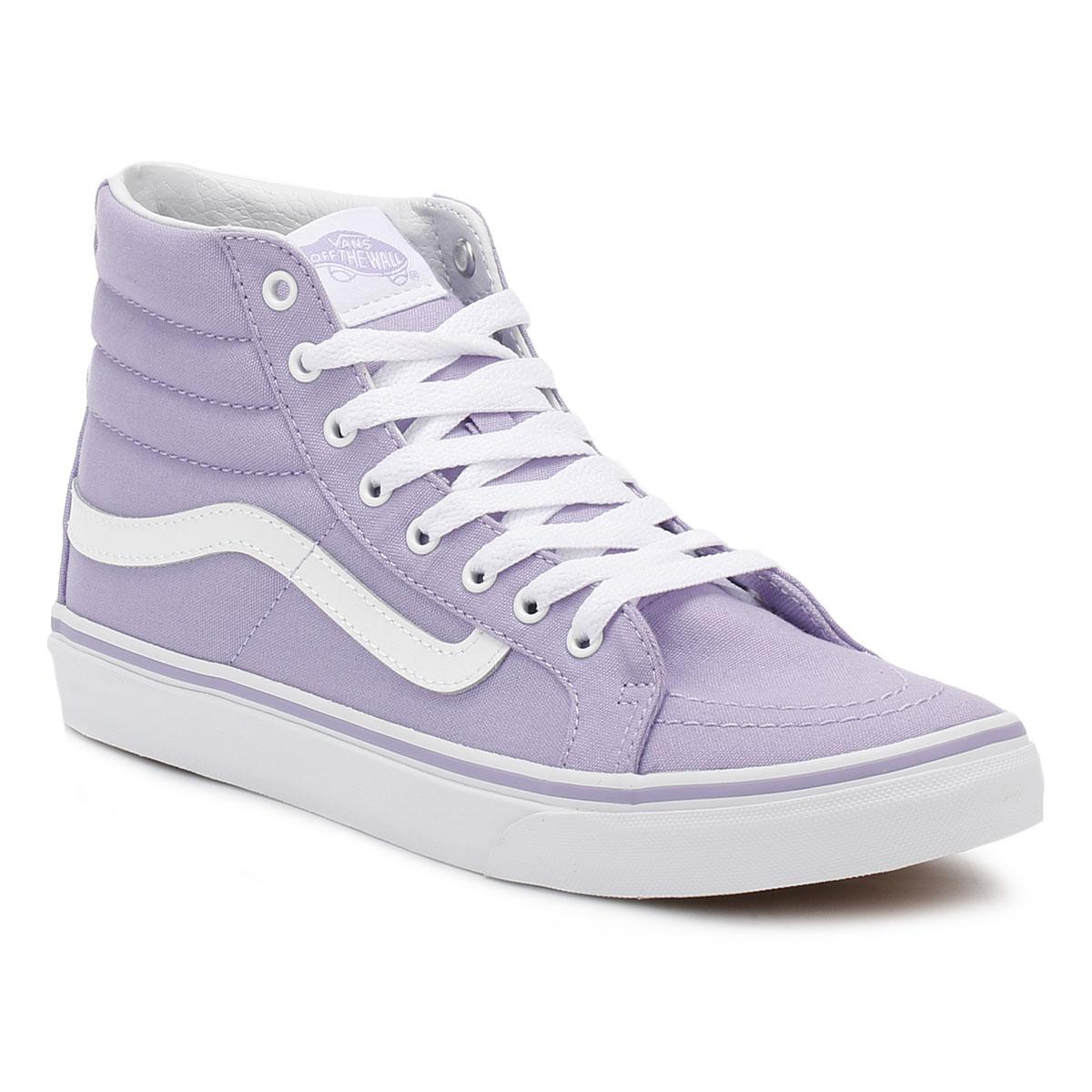 Vans. Womens Lavender Sk8-hi Slim Trainers
