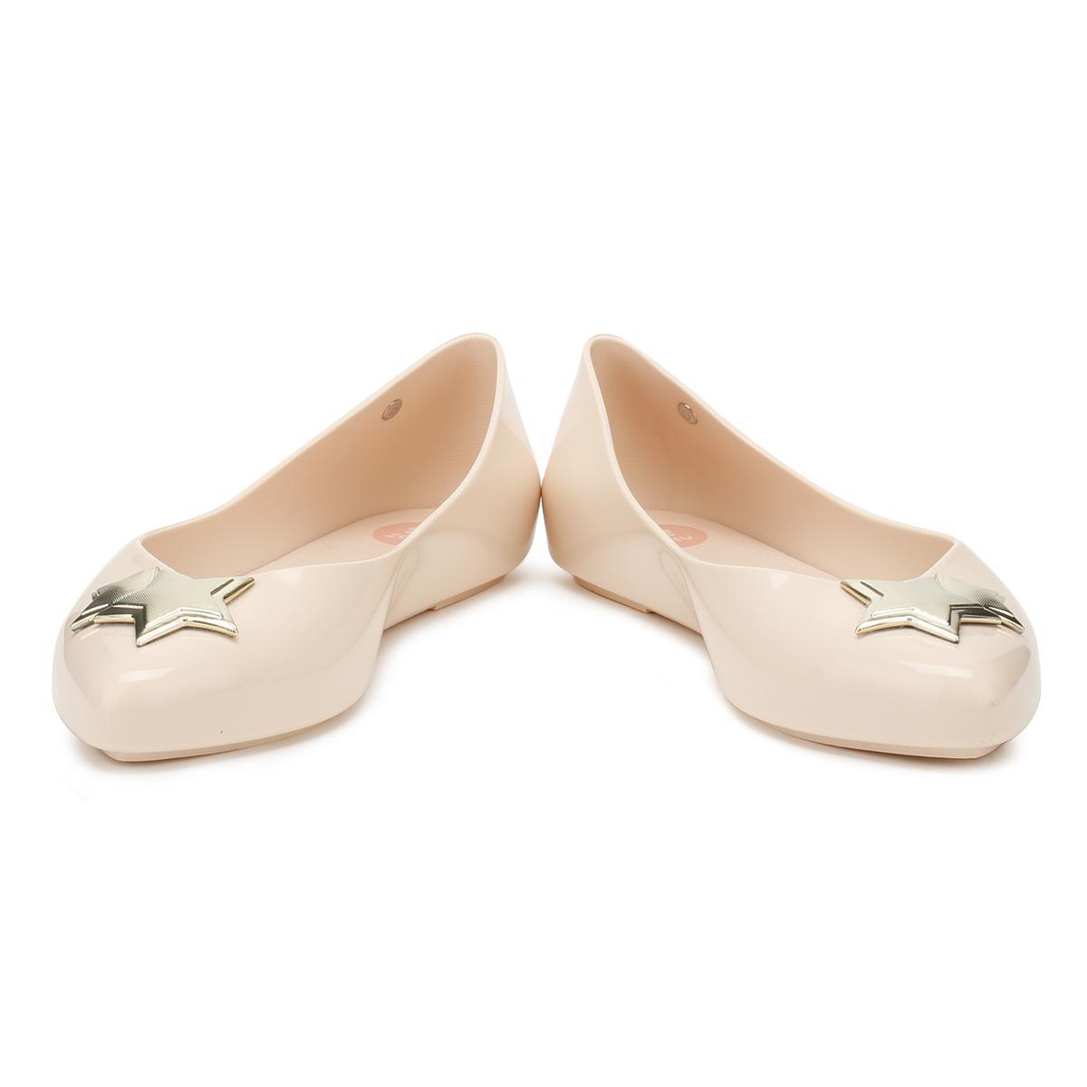 Zaxy Womens Nude Star Chic Ballerina Flats