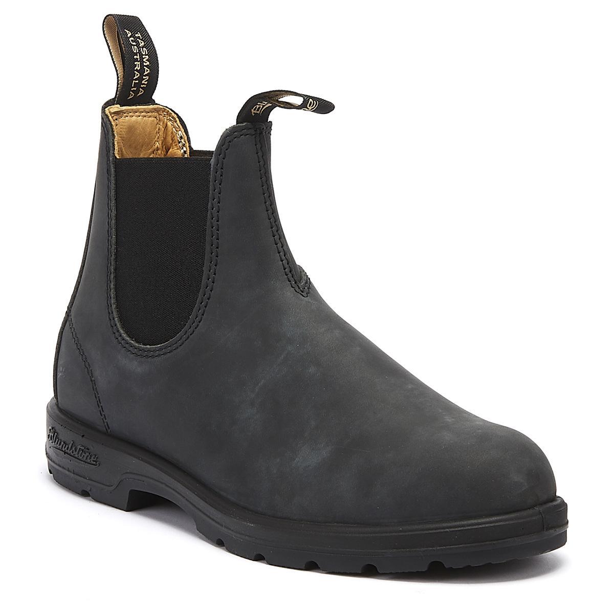 0d710644e824 Lyst - Blundstone 587 Mens Rustic Black Boots in Black for Men