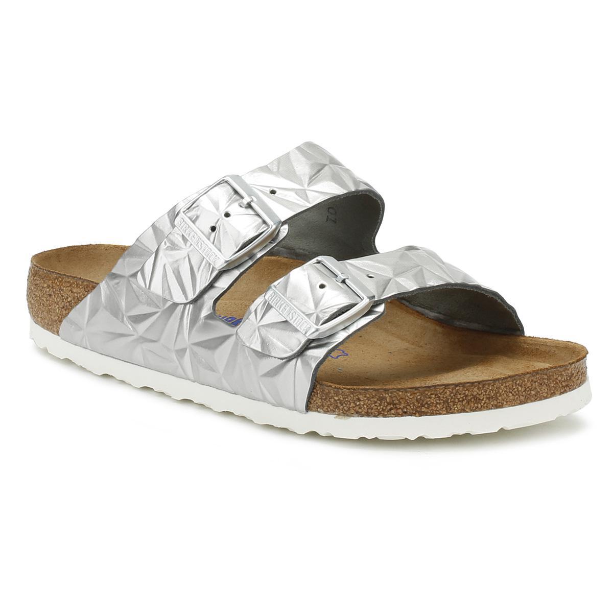 a253615fa6d7 Lyst - Birkenstock Womens Spectral Silver Arizona Sandals Women s ...
