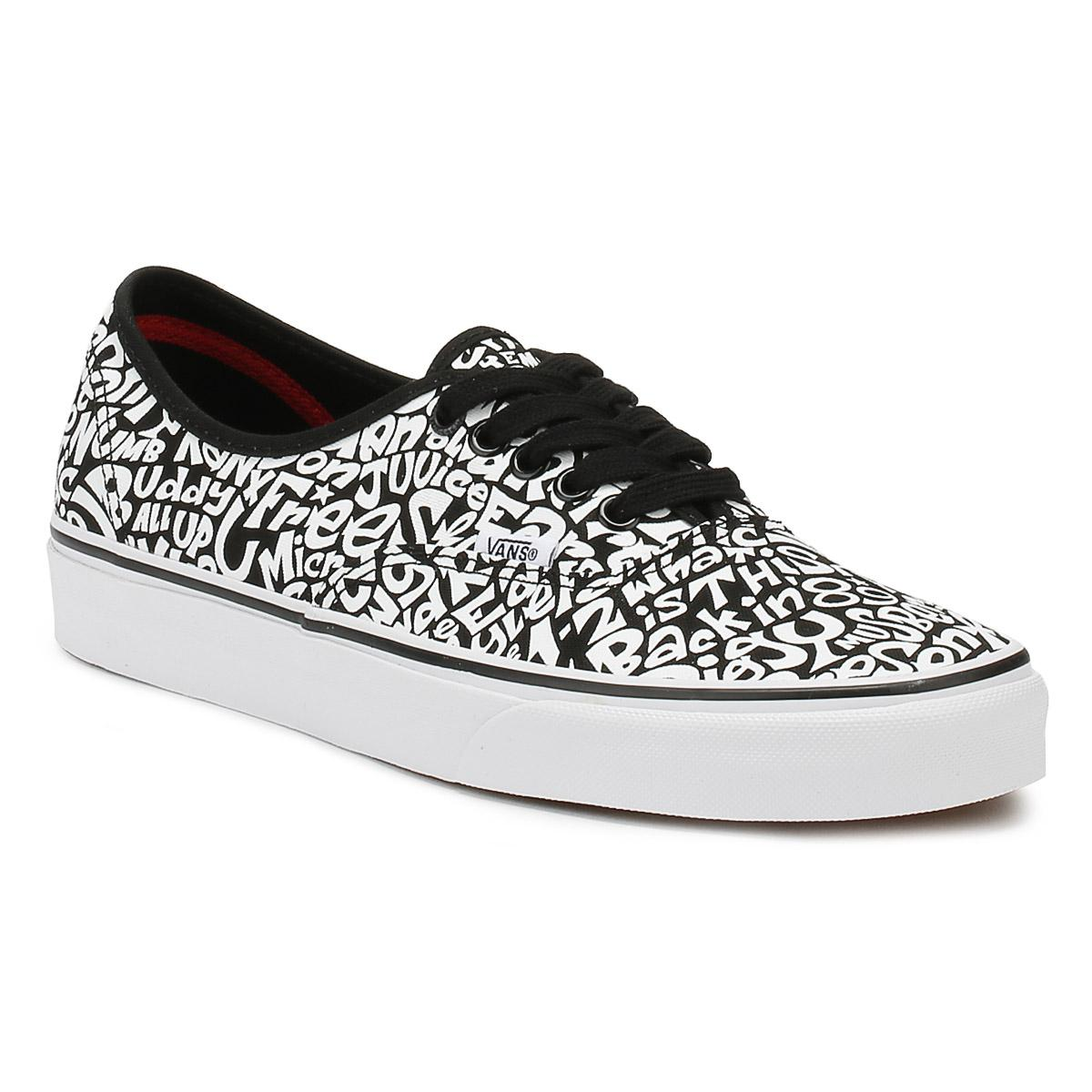 3db14efa4a6 Vans Mens Black / White A Tribe Called Quest Authentic Trainers in ...