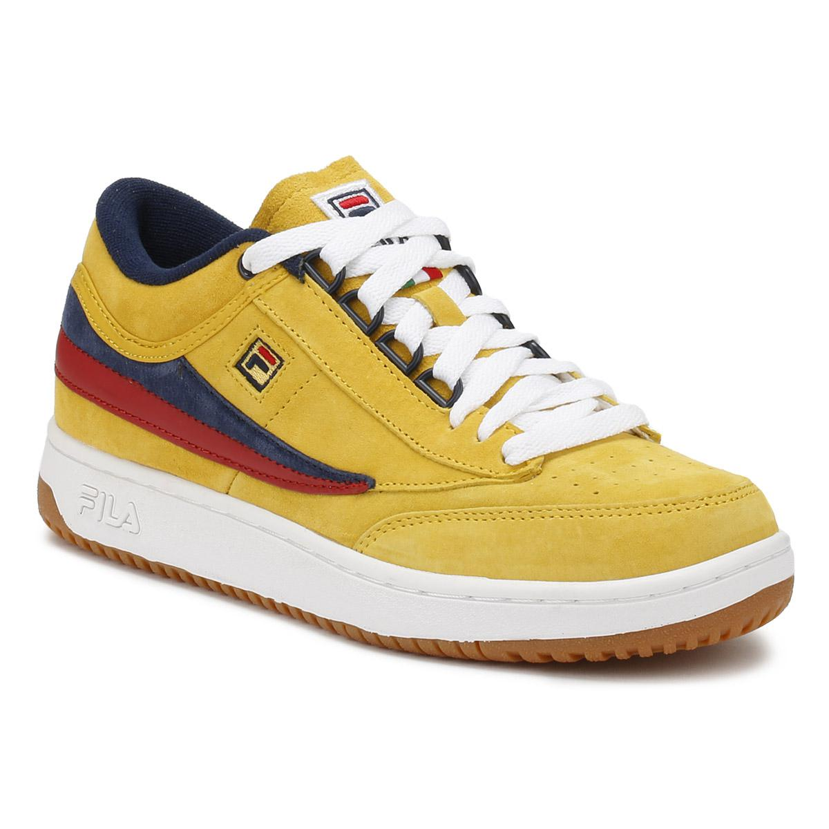 Fila Suede Mens Lemon Chrome Yellow Original Fitness T1-mid ...