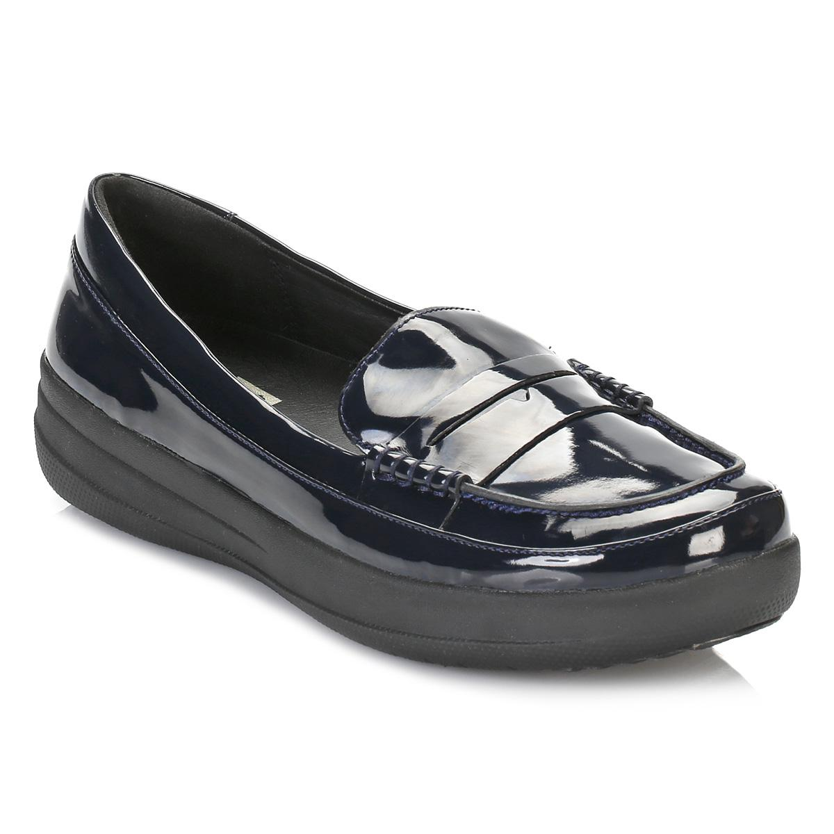 183e4ca90 Lyst - Fitflop Womens Supernavy Patent F-sporty Penny Loafers