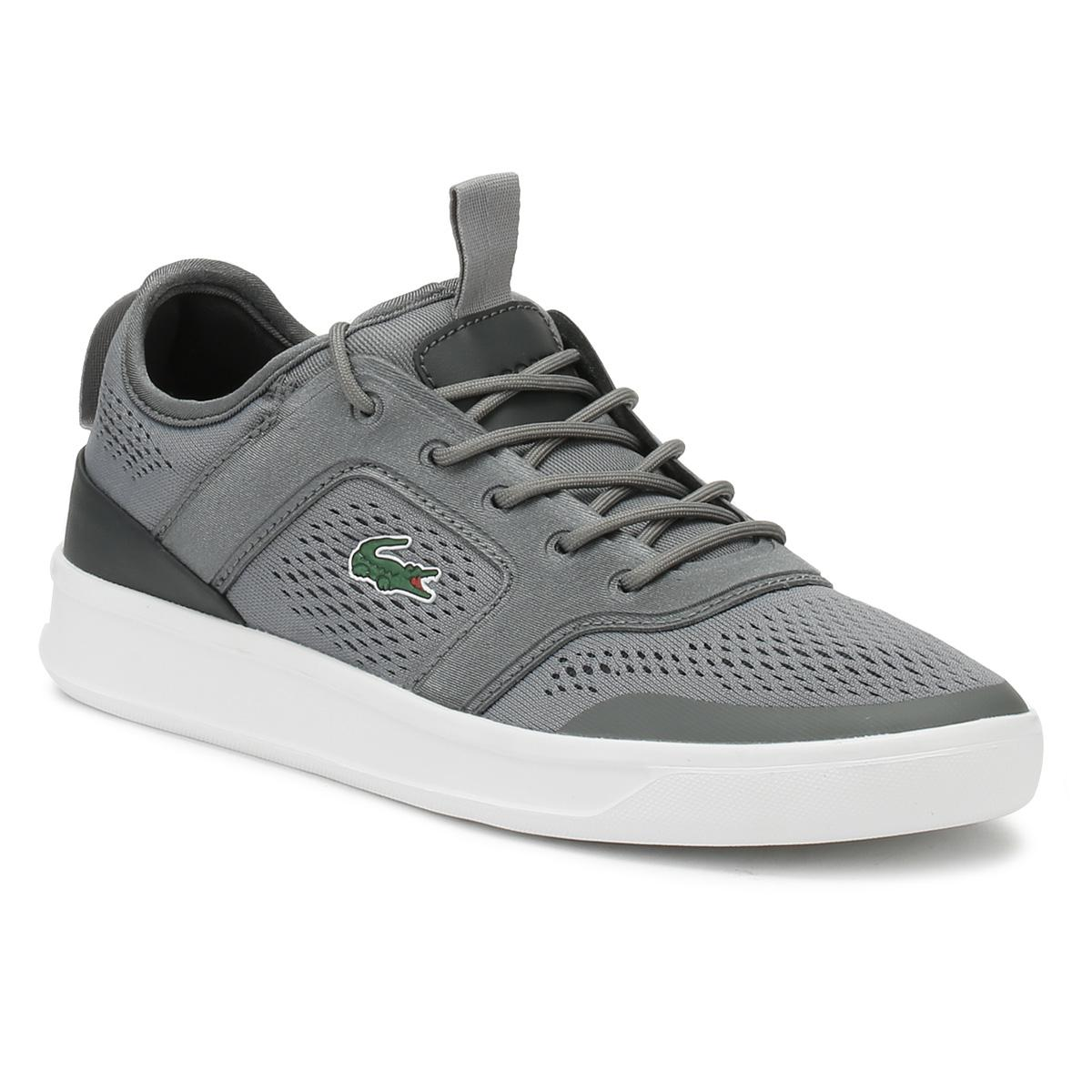 218 1 Lacoste Dark Grey Trainers Mens Light in for Gray Explorateur wHqXpR