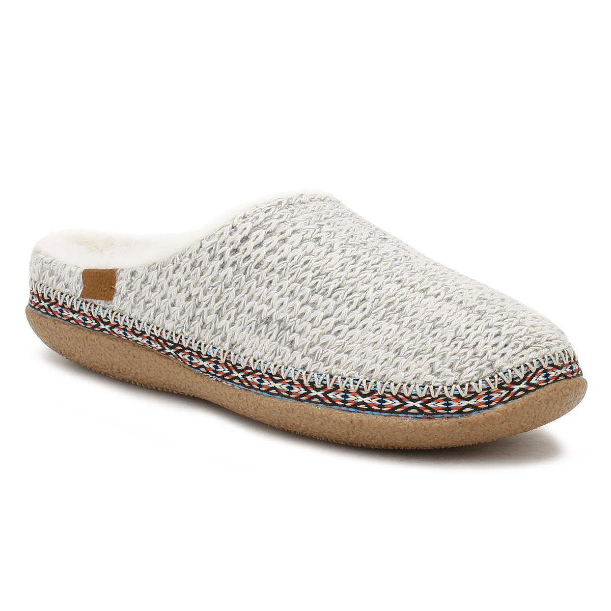 a6fb4f63dd3 Natural Womens Birch Beige Sweater Knit Ivy Slippers