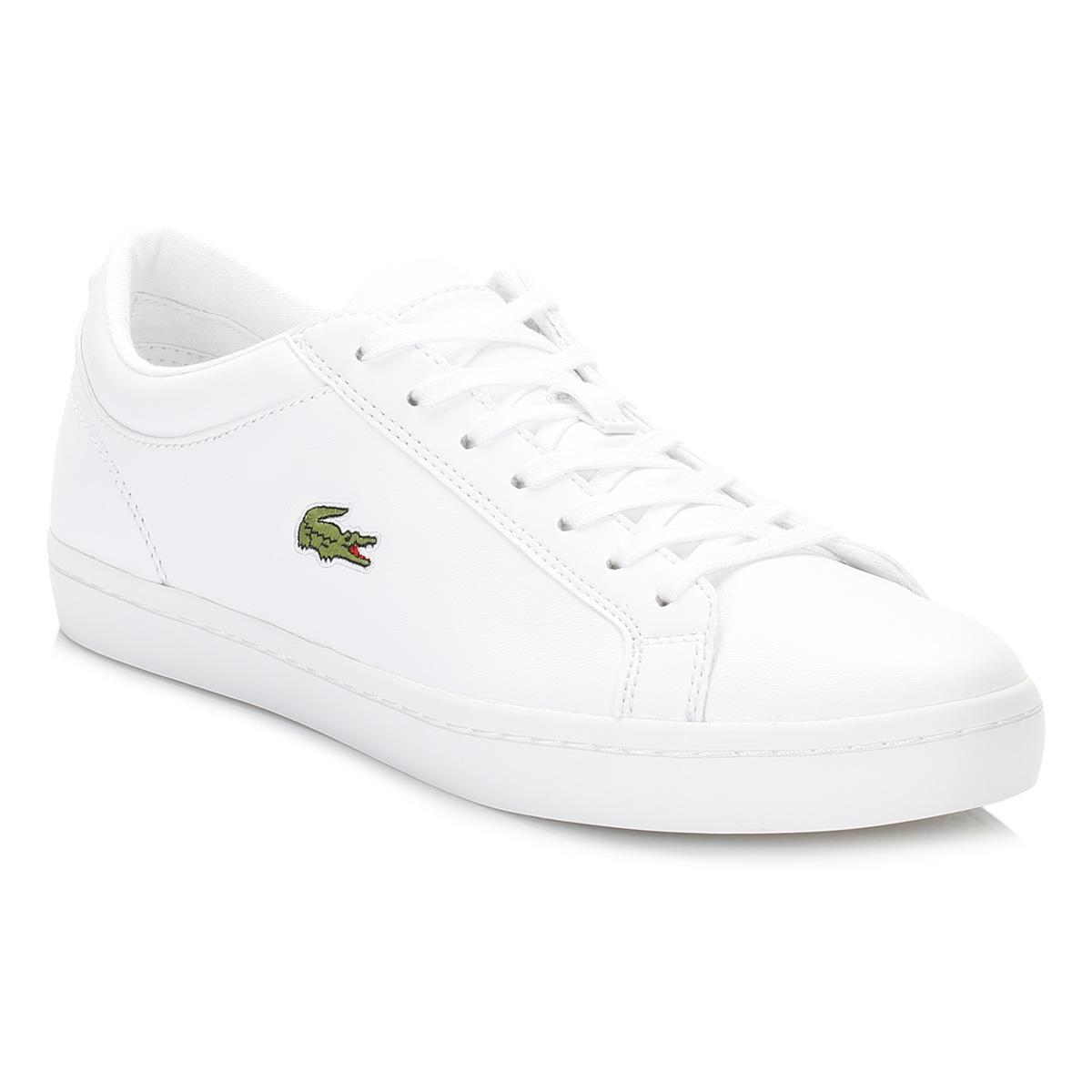 ef67694e01b Lyst - Lacoste Womens White Straightset Bl1 Spw Trainers Women s In ...