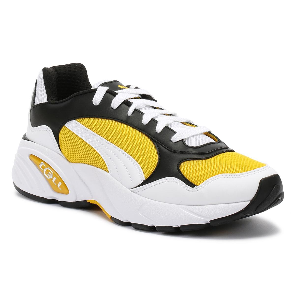 Cell Viper Mens White / Yellow Trainers