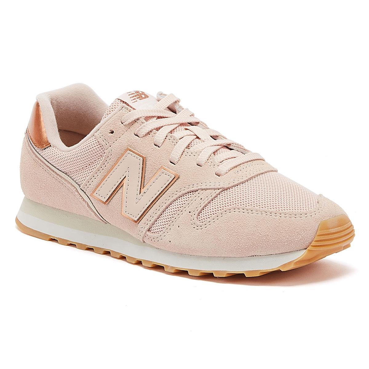 373 Womens Pink / Rose Gold Trainers