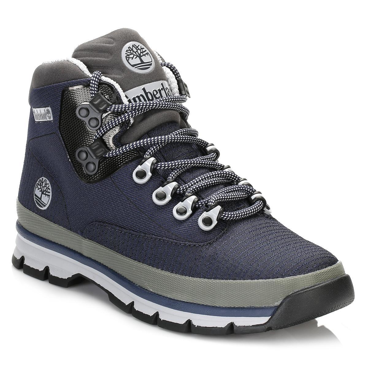 Mens Black Iris Euro Hiker Jacquard Boots