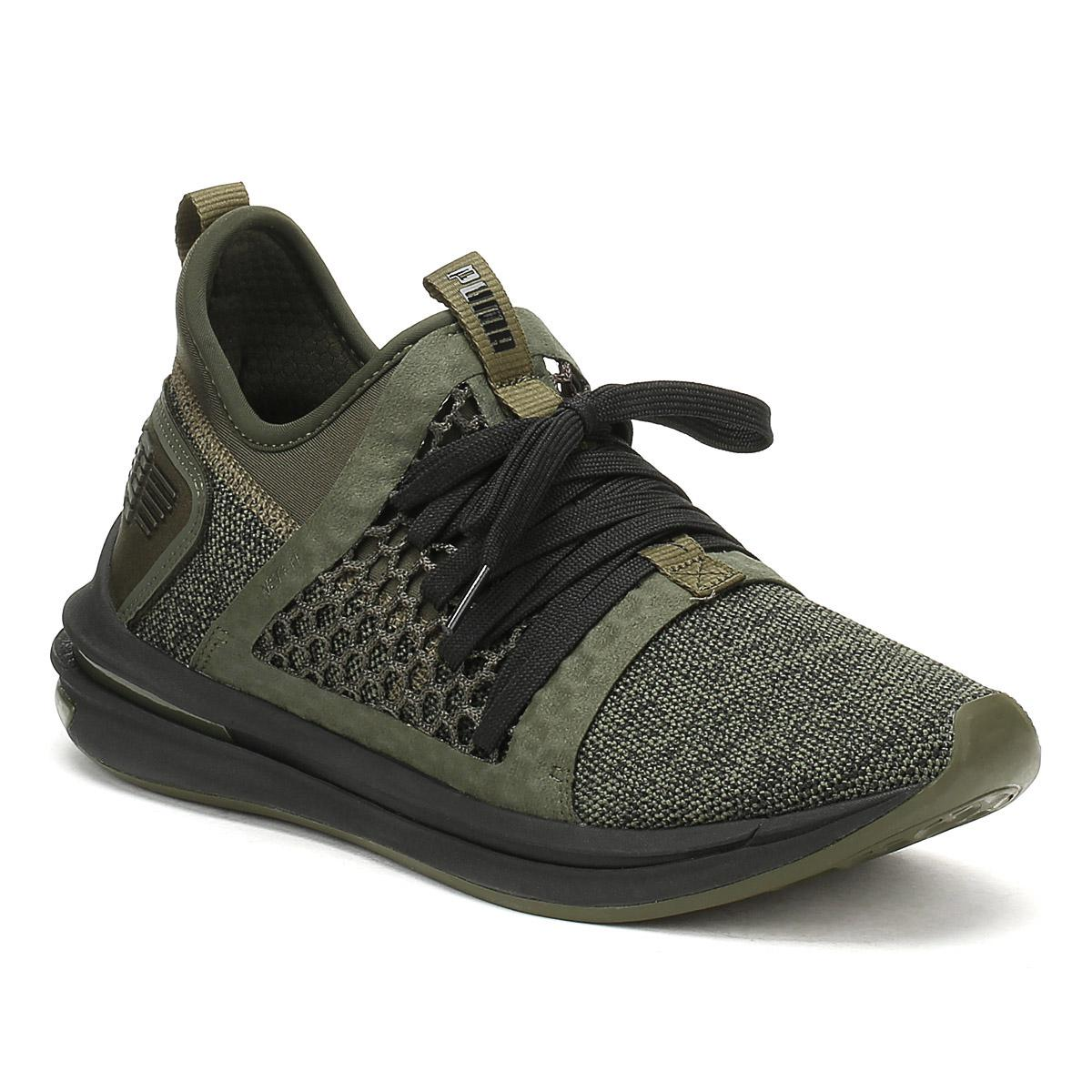 a763a86ce4b8 Lyst - PUMA Mens Forest Green Ignite Limitless Sr Netfit Trainers in ...
