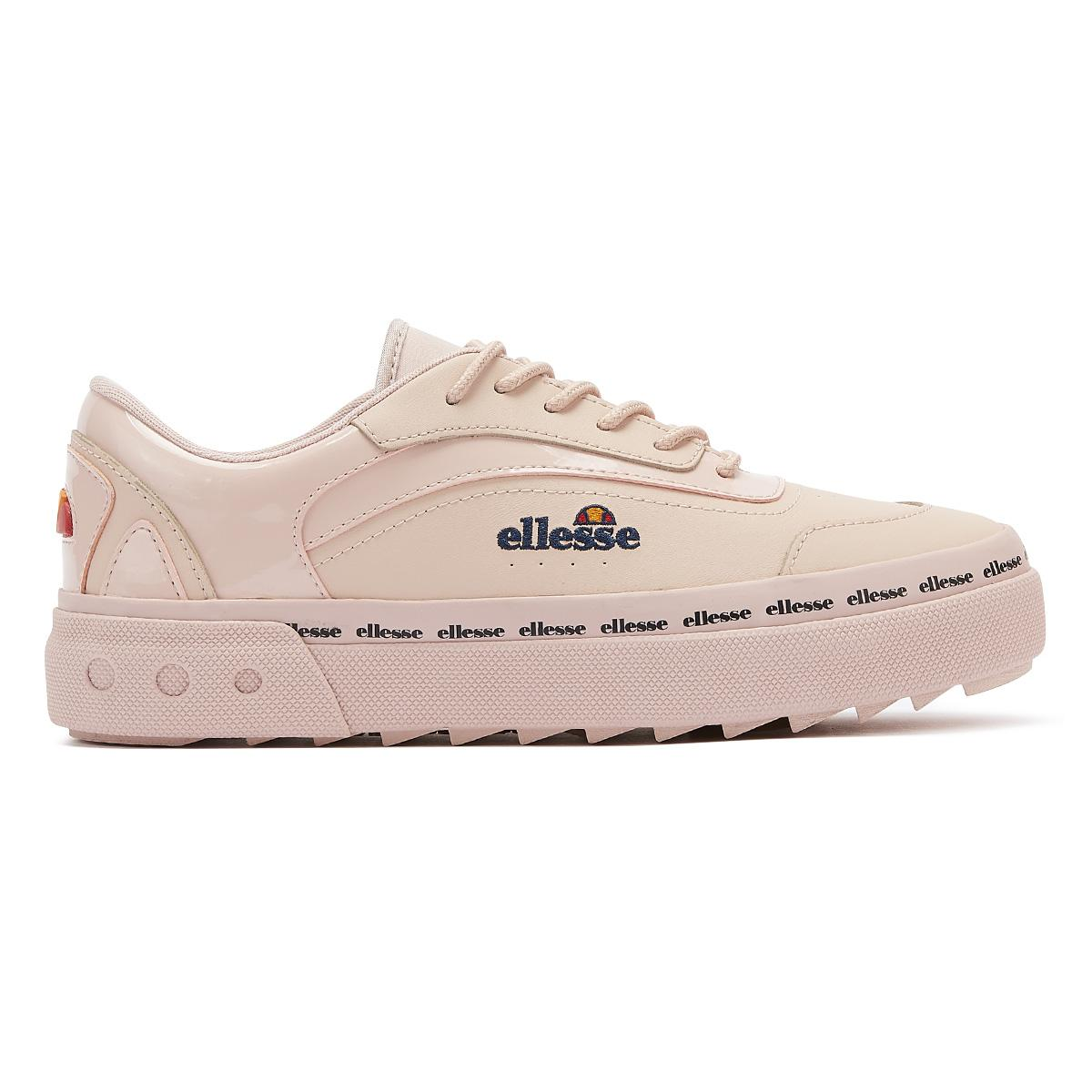 Ellesse Alzina Womens Pink Leather Trainers Ladies Sport Casual Shoes