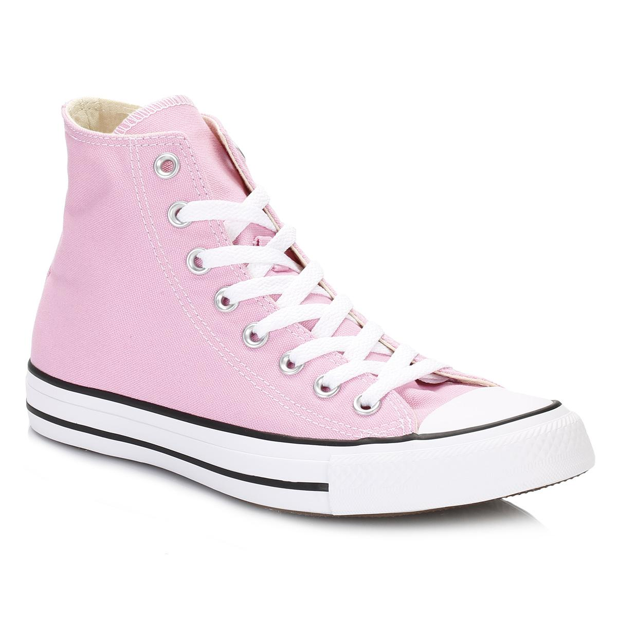 Converse Canvas All Star Womens Icy Pink Hi Trainers Lyst