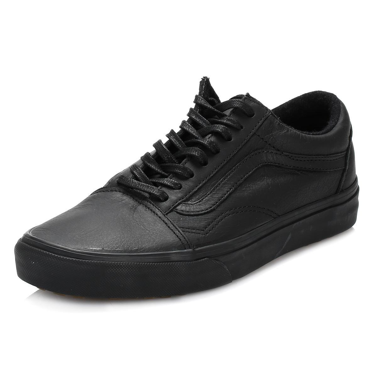 Vans Black Old Skool Mte Leather Trainers for Men