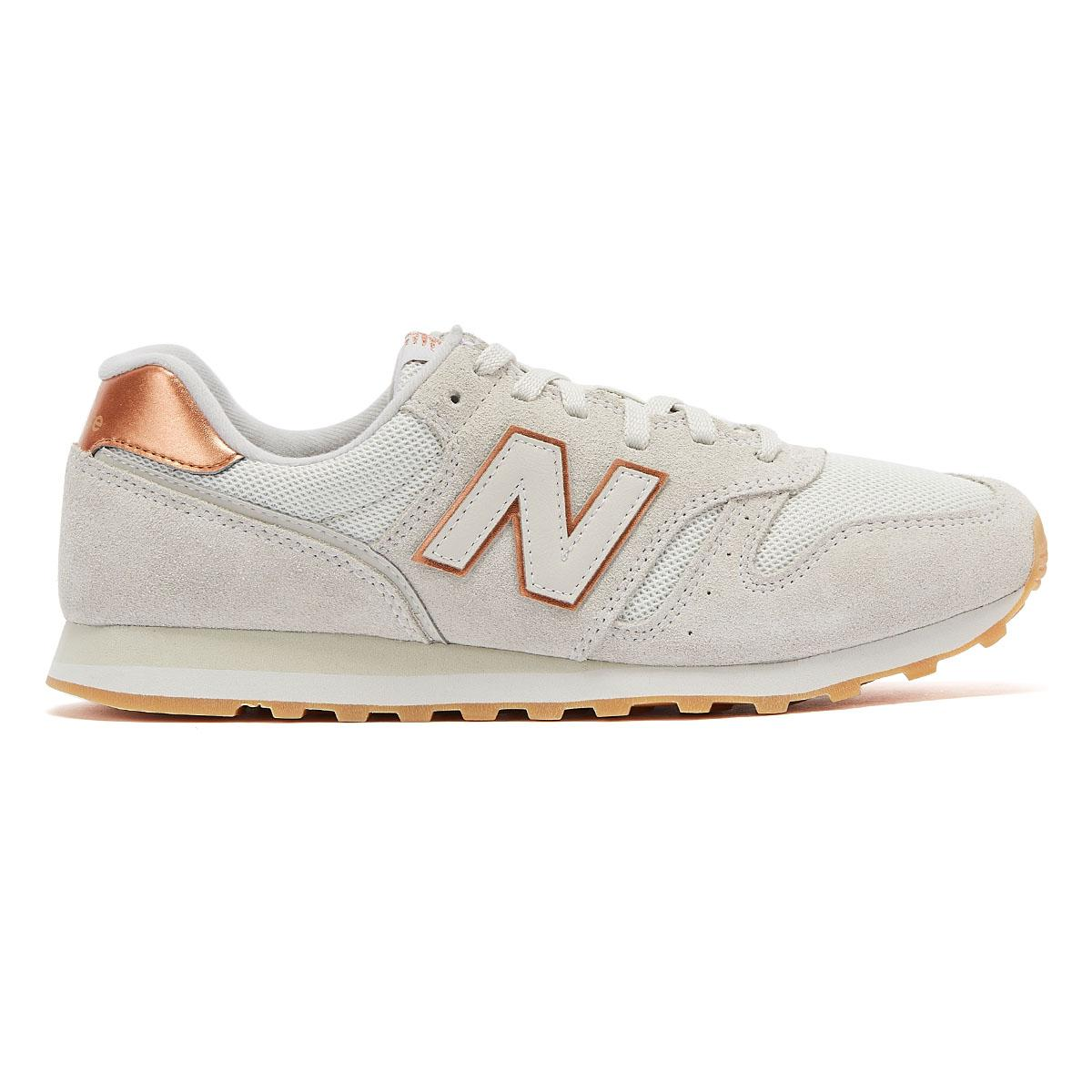 New Balance Suede 373 Womens Beige / Rose Gold Trainers in Natural ...