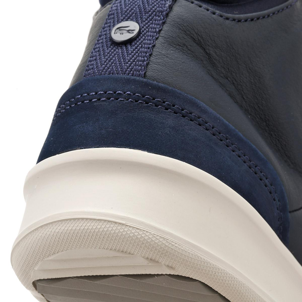 27ef47b9a16ff Lacoste Mens Navy Explorateur Classic 317 1 Trainers in Blue for Men ...