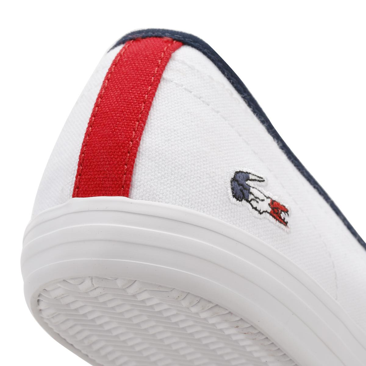 222a43c7 Lacoste Cotton Womens White Ziane Chunky 317 1 Trainers - Lyst