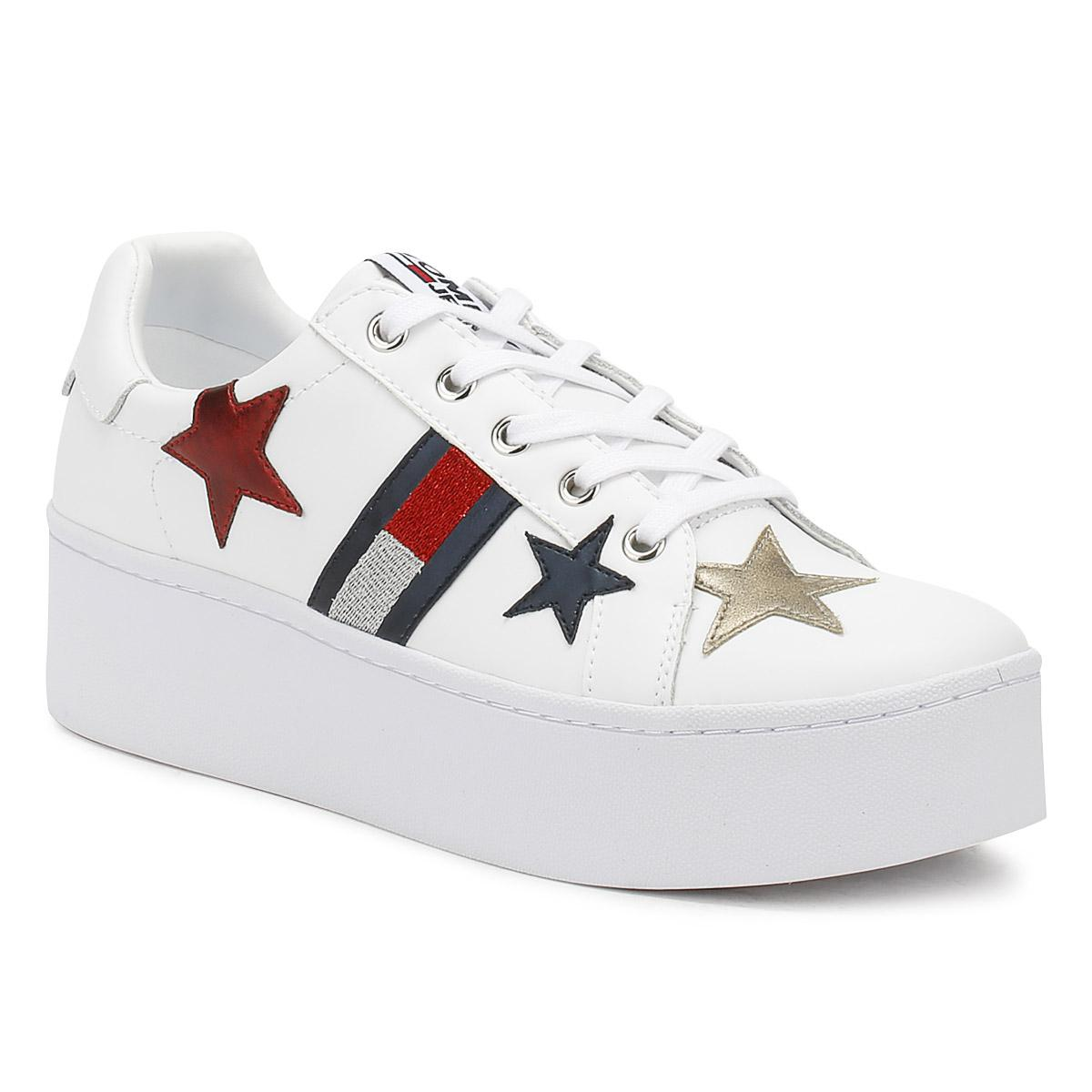 05a692021894f4 Tommy Hilfiger Jeans Womens White Icon Sparkle Trainers in White - Lyst
