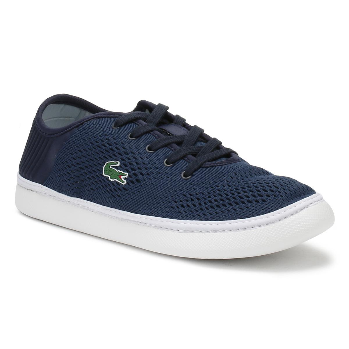 c31a4451a Lyst - Lacoste Mens Navy   White L.ydro Lace 118 1 Trainers in Blue ...